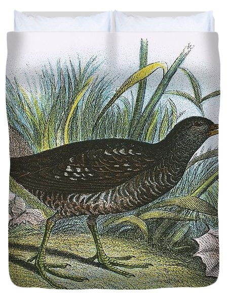 Spotted Crake Duvet Cover
