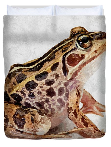 Spotted Dart Frog Duvet Cover by Lanjee Chee