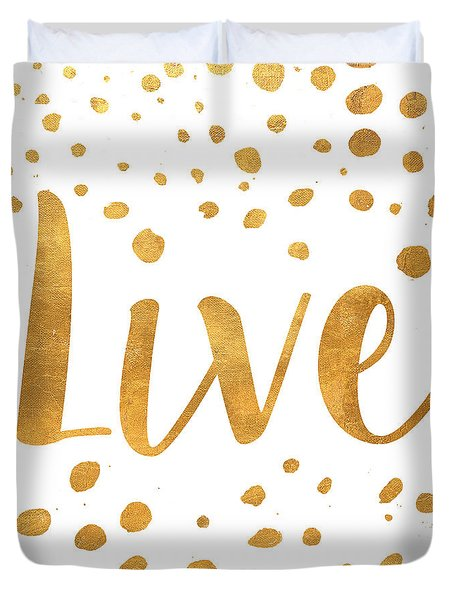 Spotted Gold II Duvet Cover