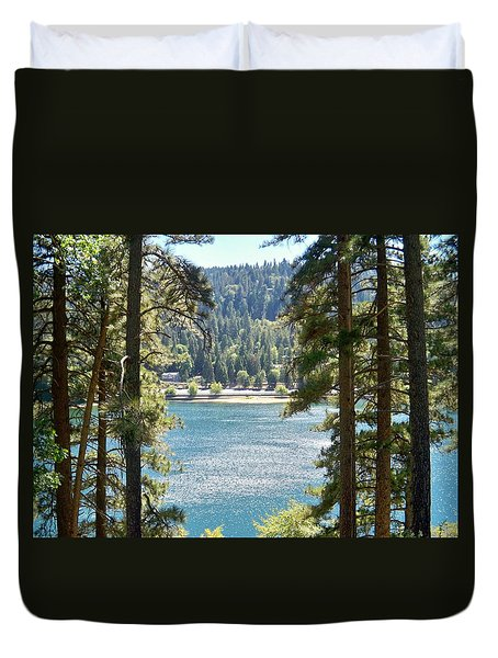 Spotted Lake Duvet Cover