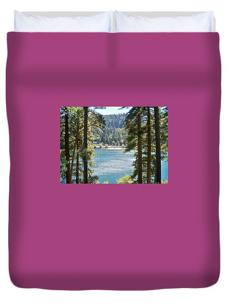 Spotted Lake - Scenic Photography - Lake Gregory California - Ai P. Nilson Duvet Cover