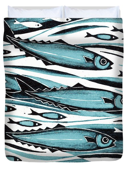 Sprats Duvet Cover by Nat Morley