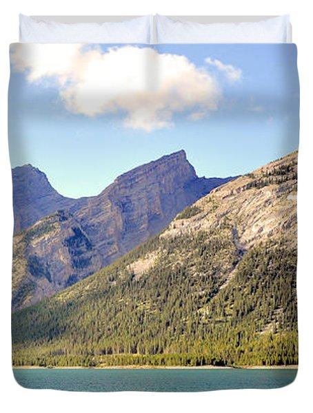 Spray Lake Mountains Duvet Cover