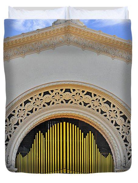Spreckles Organ San Diego Duvet Cover by Christine Till