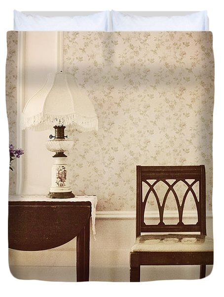 Sprig Of Lilacs Duvet Cover by Margie Hurwich
