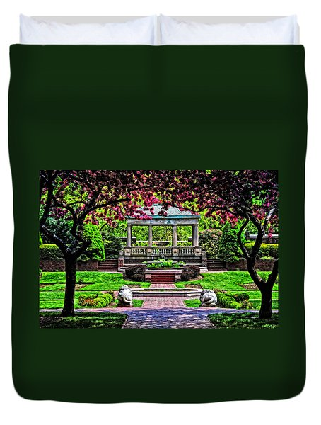 Spring At Lynch Park Duvet Cover by Mike Martin