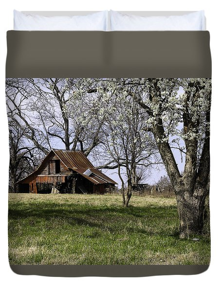 Duvet Cover featuring the photograph Spring At The Farm In Tyler Tx by Betty Denise