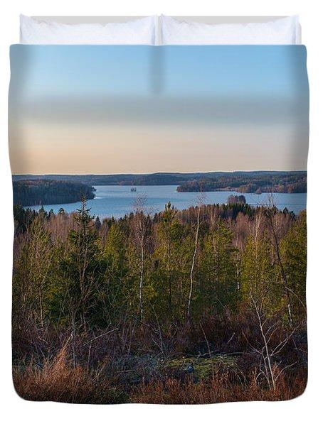 Spring At The Lake Hiidenvesi Duvet Cover