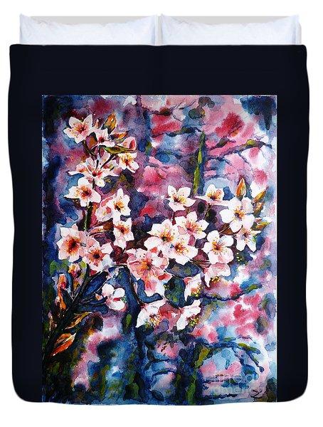 Spring Beauty Duvet Cover by Zaira Dzhaubaeva
