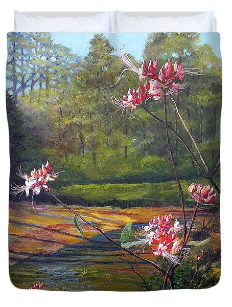 Spring Blooms On The Natchez Trace Duvet Cover by Jeanette Jarmon