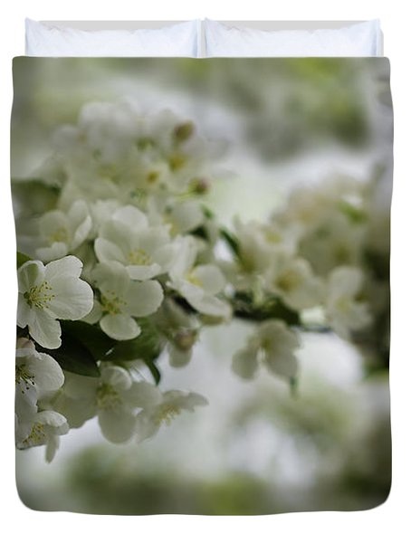 Duvet Cover featuring the photograph Spring Bloosom by Sebastian Musial