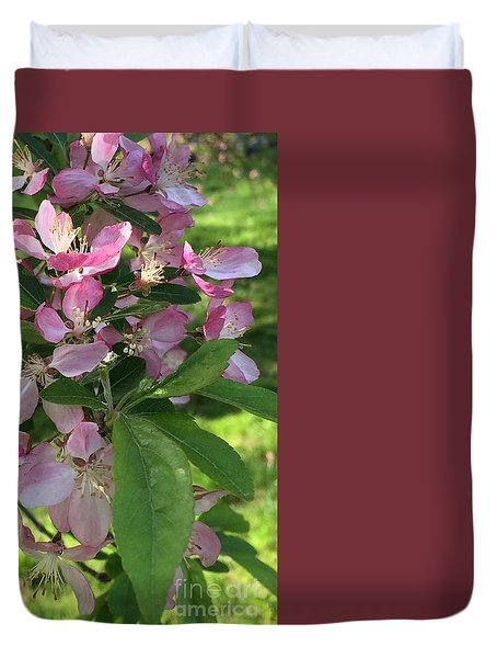 Spring Blossoms - Flower Photography Duvet Cover by Miriam Danar