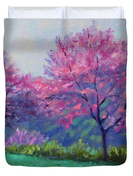 Spring Blossoms On Mill Mountain Duvet Cover