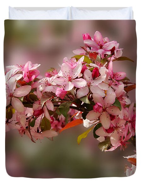 Cheery Cherry Blossoms Duvet Cover