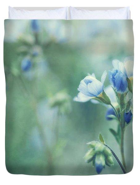 Spring Blues Duvet Cover by Priska Wettstein