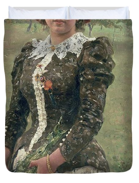 Spring Bouquet Duvet Cover by Ilya Efimovich Repin