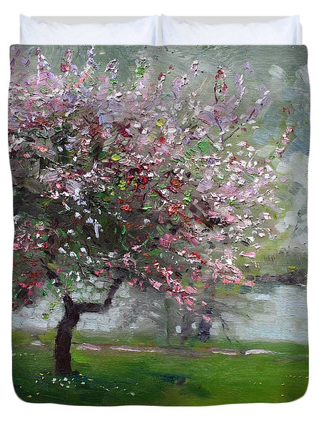Spring By The River Duvet Cover by Ylli Haruni