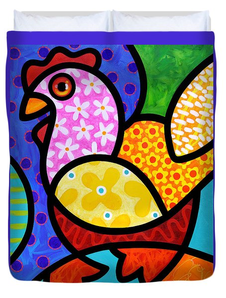 Spring Chicken Duvet Cover