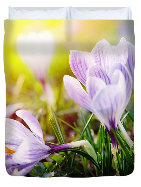 Duvet Cover featuring the photograph Spring by Christine Sponchia