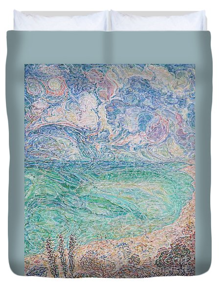 Spring Clouds Over The Azov Sea Duvet Cover