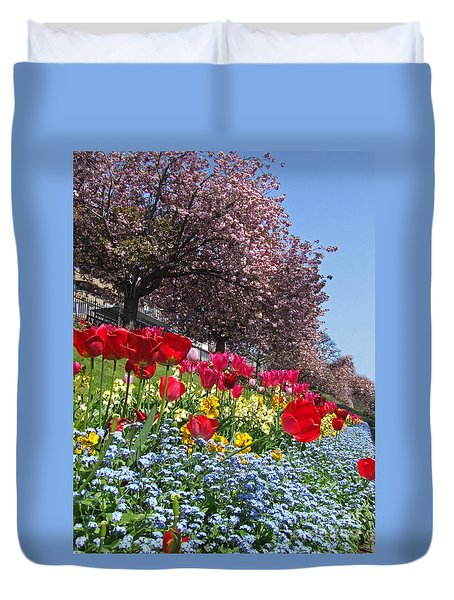 Duvet Cover featuring the photograph Spring Colours - Edinburgh by Phil Banks