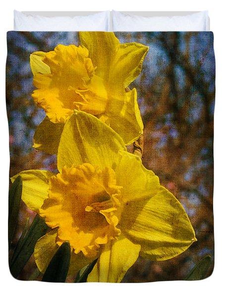 Spring Daffodils  Duvet Cover by Brian Roscorla