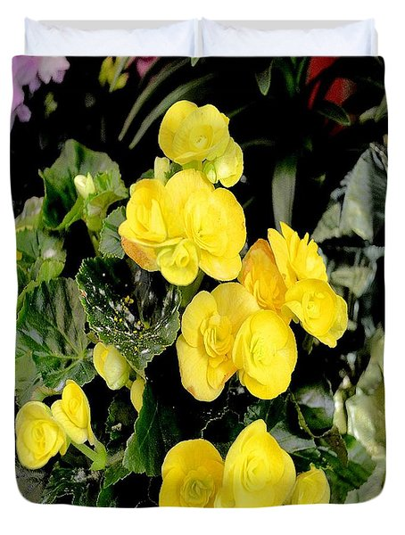 Duvet Cover featuring the photograph Spring Delight In Yellow by Luther Fine Art