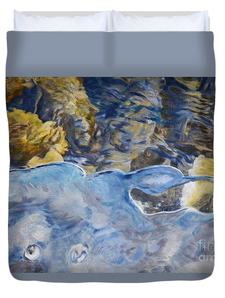 Duvet Cover featuring the photograph Spring Drawing A Line In The Ice  by Brian Boyle
