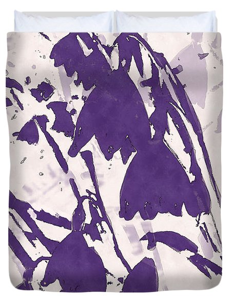 Duvet Cover featuring the digital art Spring Dream In Purple by Deborah Smith