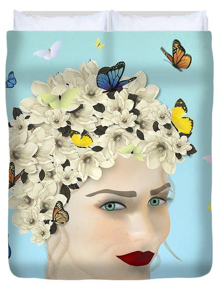 Spring Face - Limited Edition 2 Of 15 Duvet Cover