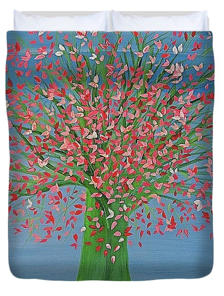 Spring Fantasy Tree By Jrr Duvet Cover by First Star Art