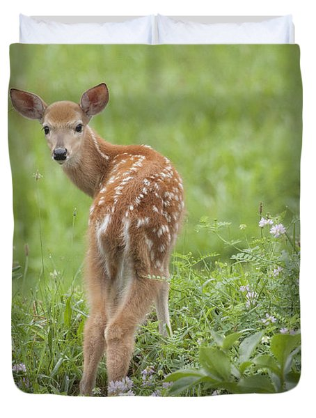 Spring Fawn Duvet Cover