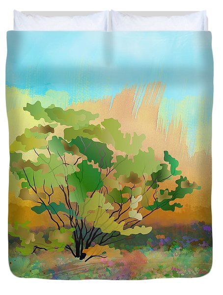 Spring Field Duvet Cover by Bedros Awak