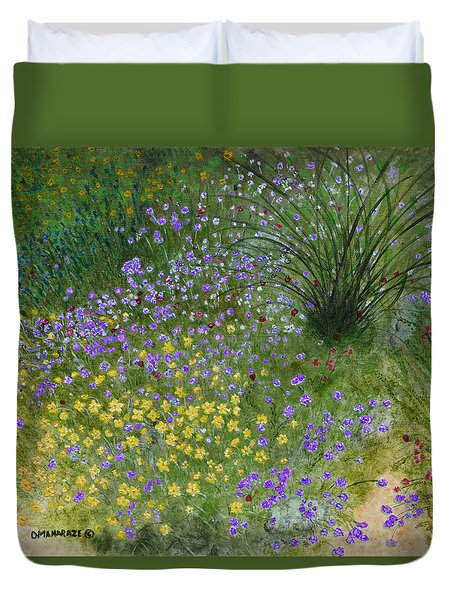 Spring Fling Duvet Cover by Donna  Manaraze