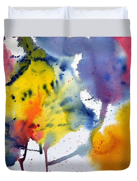 Duvet Cover featuring the painting Spring Fling by Joan Hartenstein