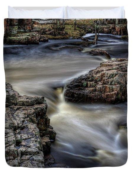 Spring Flow Through The Dells Duvet Cover