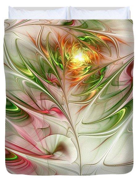 Spring Flower Duvet Cover by Anastasiya Malakhova