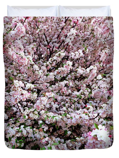 Spring Flowering Tree Duvet Cover by Lanjee Chee
