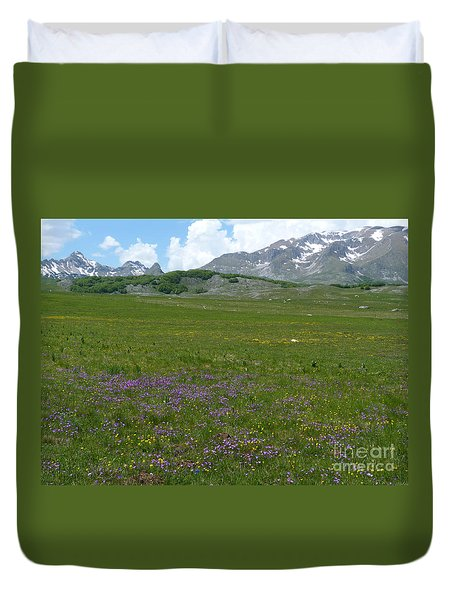 Duvet Cover featuring the photograph Spring Flowers - Durmitor National Park - Montenegro by Phil Banks
