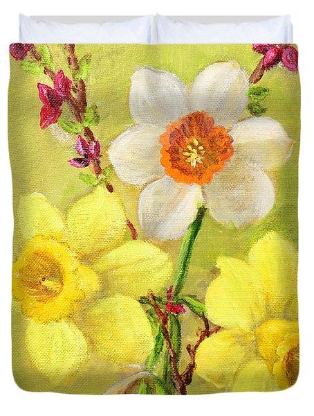 Spring Flowers Duvet Cover by Randol Burns