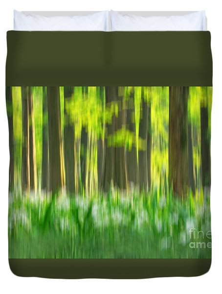 Duvet Cover featuring the photograph Spring Forest Impression by Charline Xia
