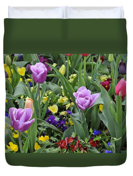 Duvet Cover featuring the photograph Spring Garden by Kenny Francis