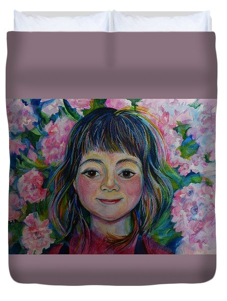 Spring Girls. Part One Duvet Cover by Anna  Duyunova