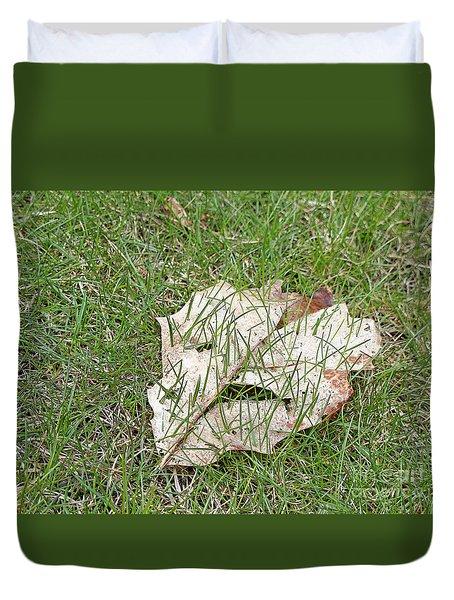 Spring Grass Growing Duvet Cover by Ann Horn