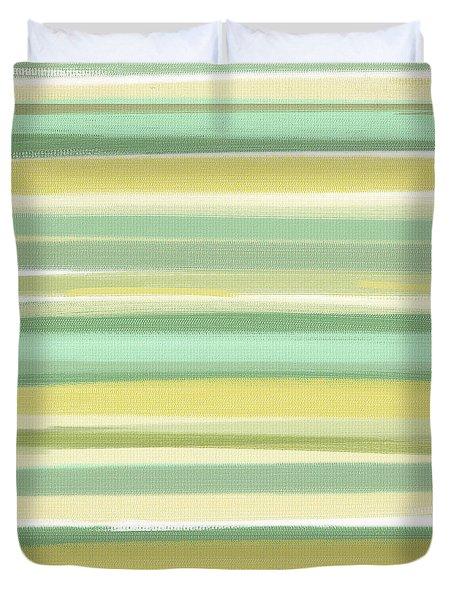 Spring Green Duvet Cover by Lourry Legarde