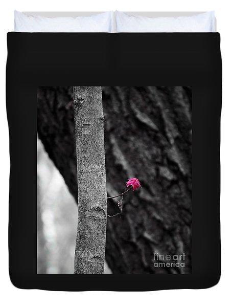 Spring Maple Growth Duvet Cover
