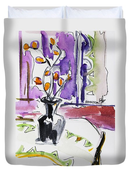Spring Has Arrived Duvet Cover by Becky Kim
