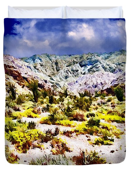 Spring In Anza Borrega  Duvet Cover by Bob and Nadine Johnston