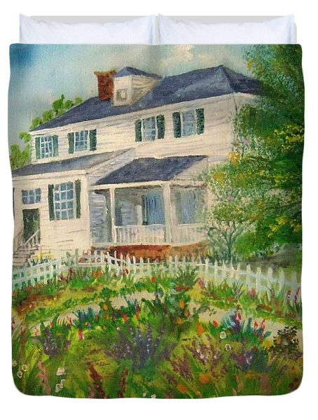 Spring In Colonial Williamsburg- Cole House Duvet Cover