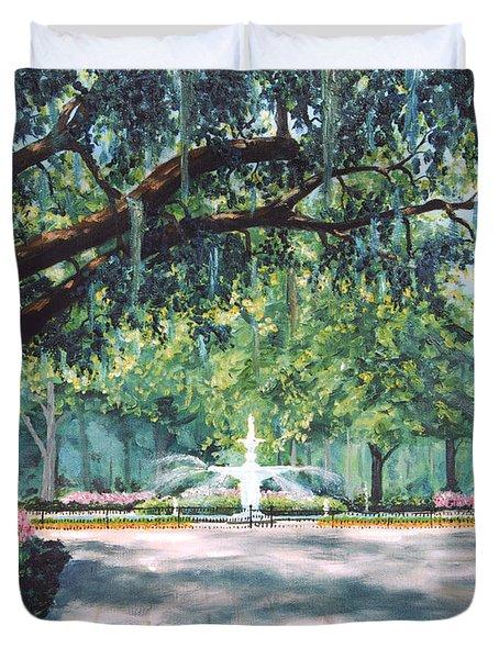 Spring In Forsythe Park Duvet Cover